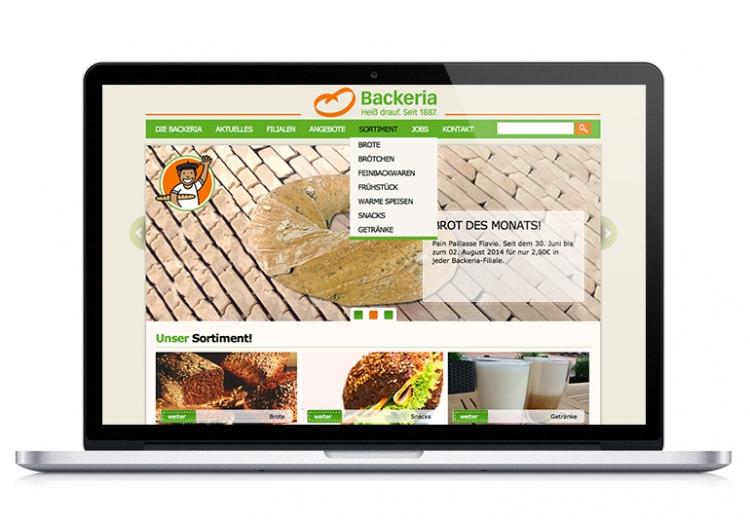 Relaunch www.backeria.de 2