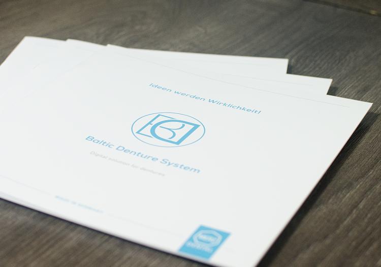 Logo- und Corporate Design Entwicklung für Baltic Denture System. 5