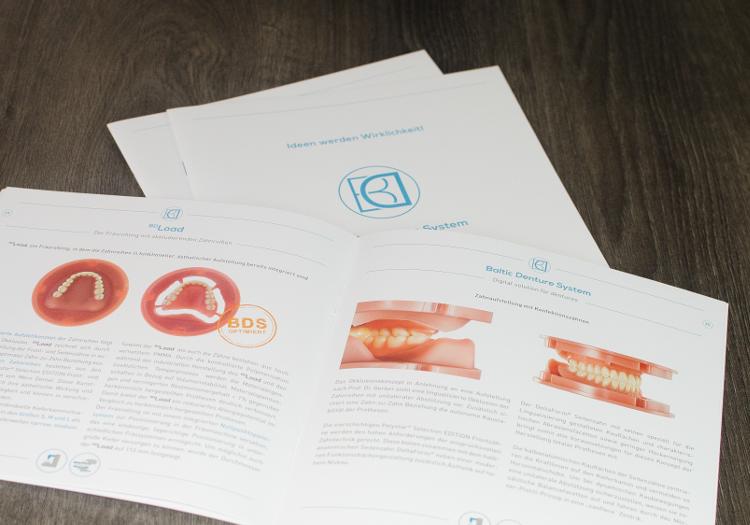 Logo- und Corporate Design Entwicklung für Baltic Denture System. 2